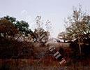 Paisano ranch house at twilight