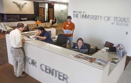 Visitors Center at UT Austin